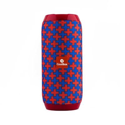 Coolbox Altavoz 2.0 BT COOLTUBE Rojo y Azul