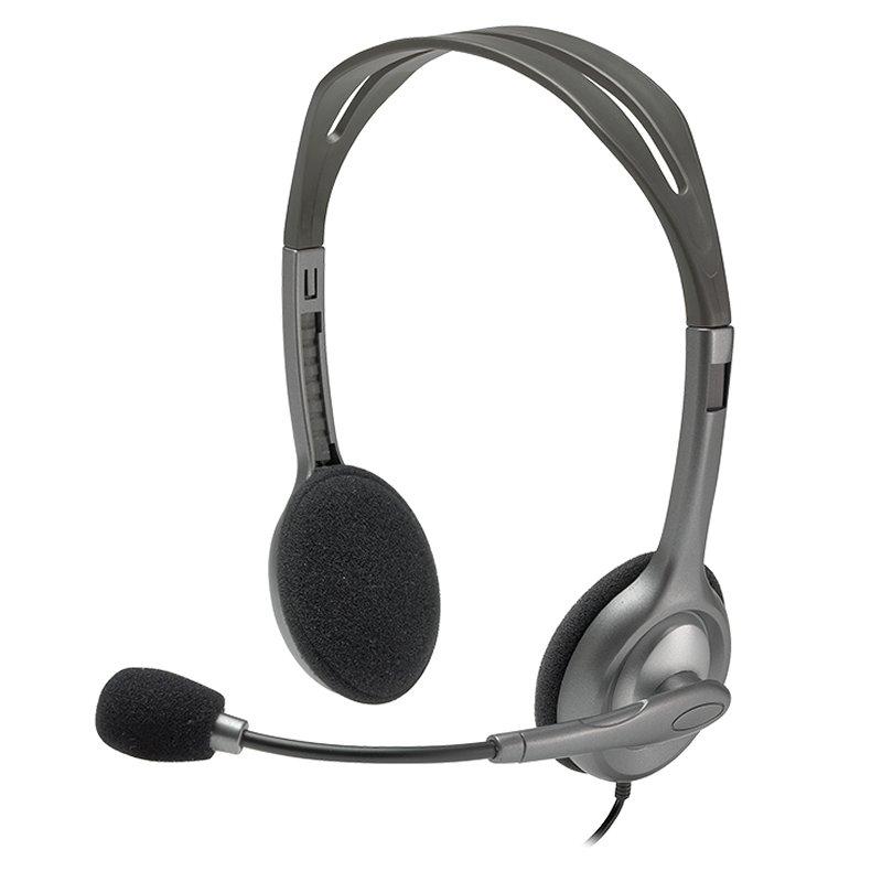 Logitech Auricular+Mic H111 Negro