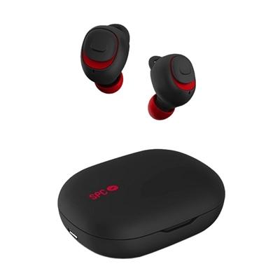 SPC Auricular+mic Inalámbrico EBON GO Negro/Rojo