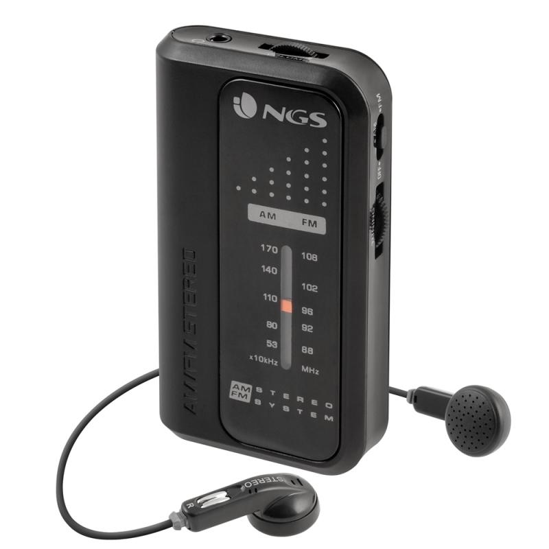 NGS Radio Portátil con auriculares CODEKNOCK AM/FM