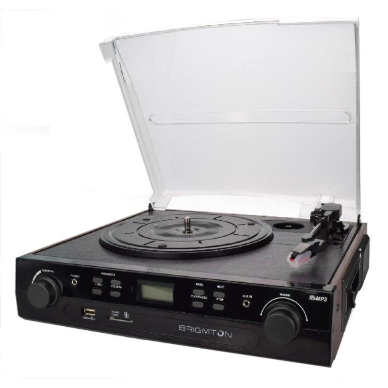 Brigmton BTC-406 Tocadiscos-Cassette Grabador