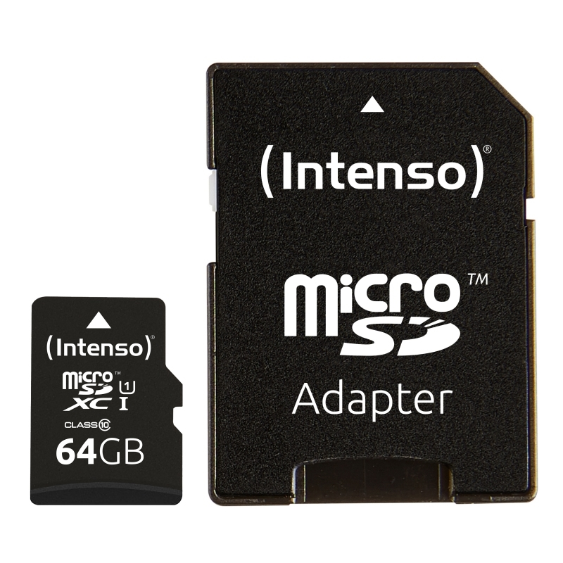 Intenso 3423490 Micro SD UHS-I Premium 64GB c/adap