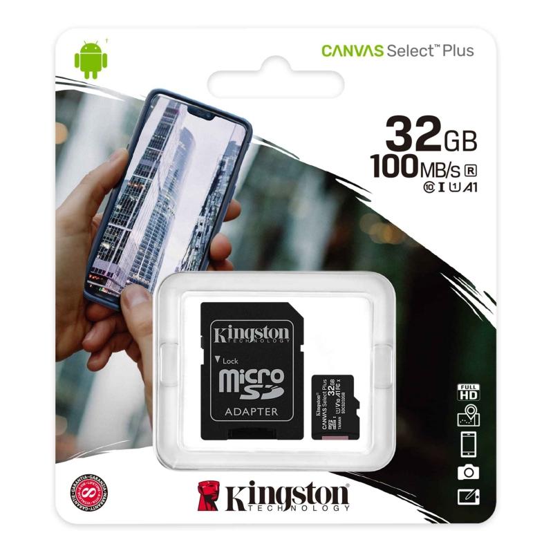Kingston SDCS2/32GB micro SD XC clase 10 32GB c/a