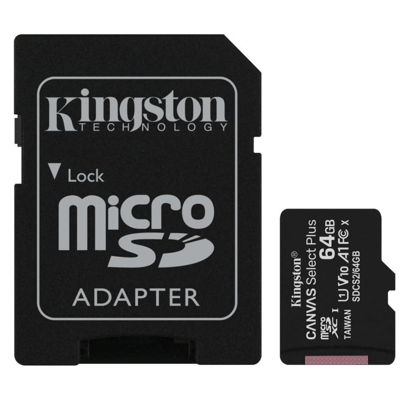 Kingston SDCS2/64GB micro SD XC clase 10 64GB c/a