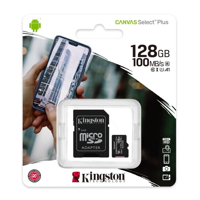 Kingston SDCS2/128GB microSD XC clase 10 128GB c/a