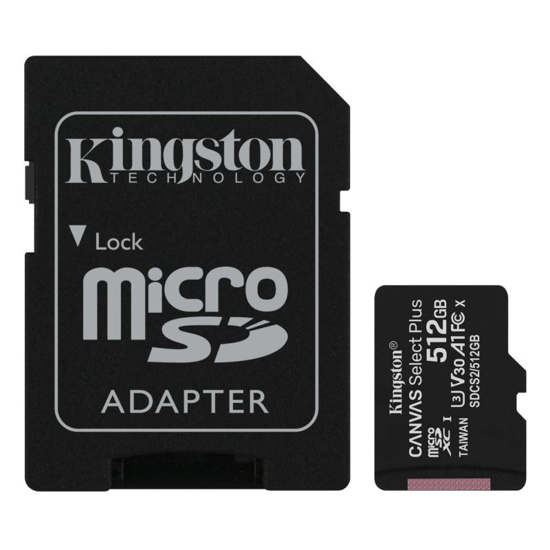 Kingston SDCS2/512GB microSD XC clase 10 512GB c/a