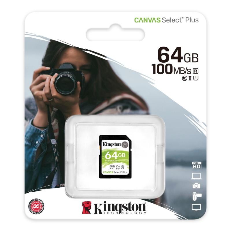 Kingston SDS2/64GB SD XC 64GB clase 10