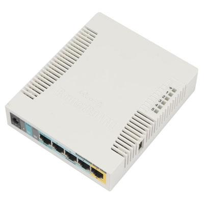 MikroTik RB951Ui-2HnD 5x10/100 2.4GHz L4