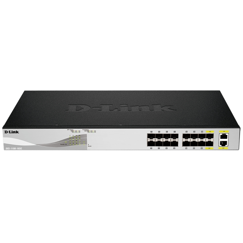 D-Link DXS-1100-16SC Switch L2+ 14xSFP+ 2x10GB