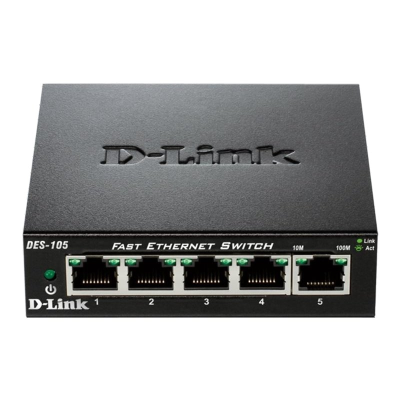 D-Link DES-105 Switch Switch 5x10/100Mbps Metal
