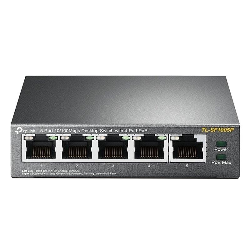 TP-LINK TL-SF1005P Switch 5x10/100Mbps 4xPoE Metal