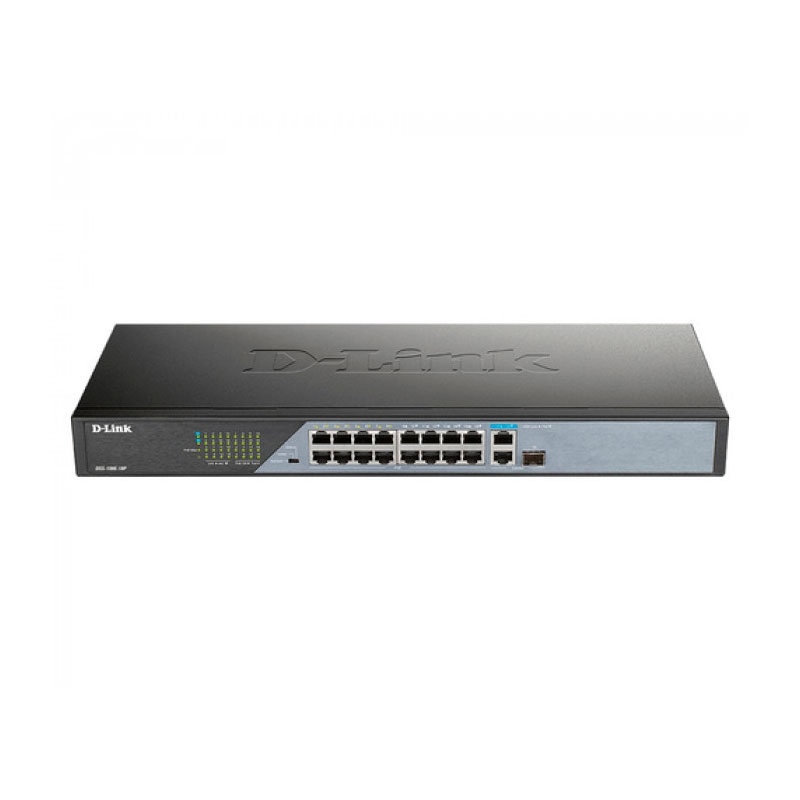 D-Link DSS-100E-18P Switch PoE Surveilla 230W 250m