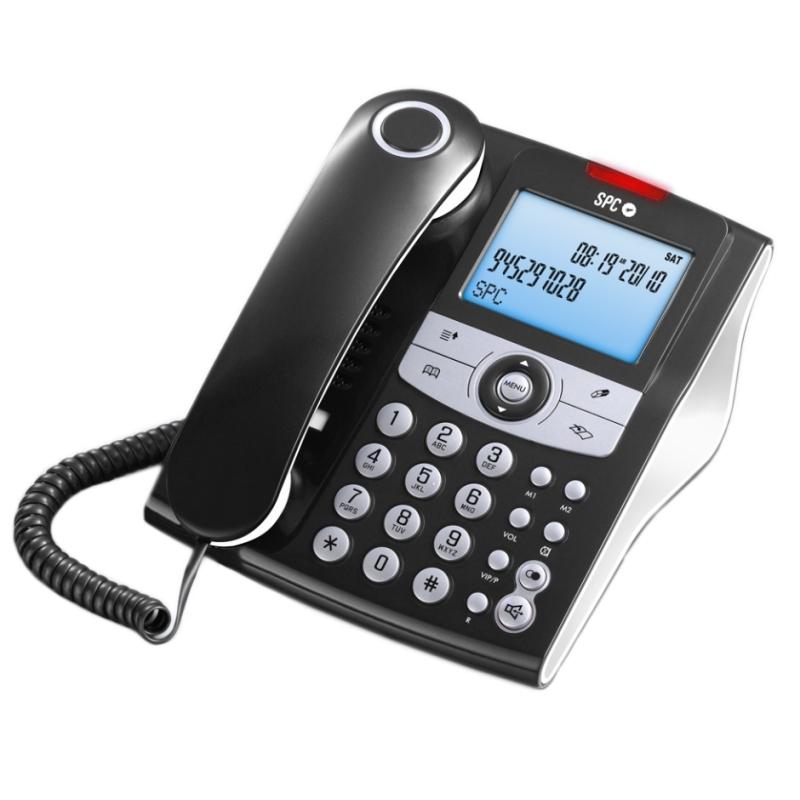 SPC 3804N Telefono ELEGANCE ID 70M ML ID LCD Negro