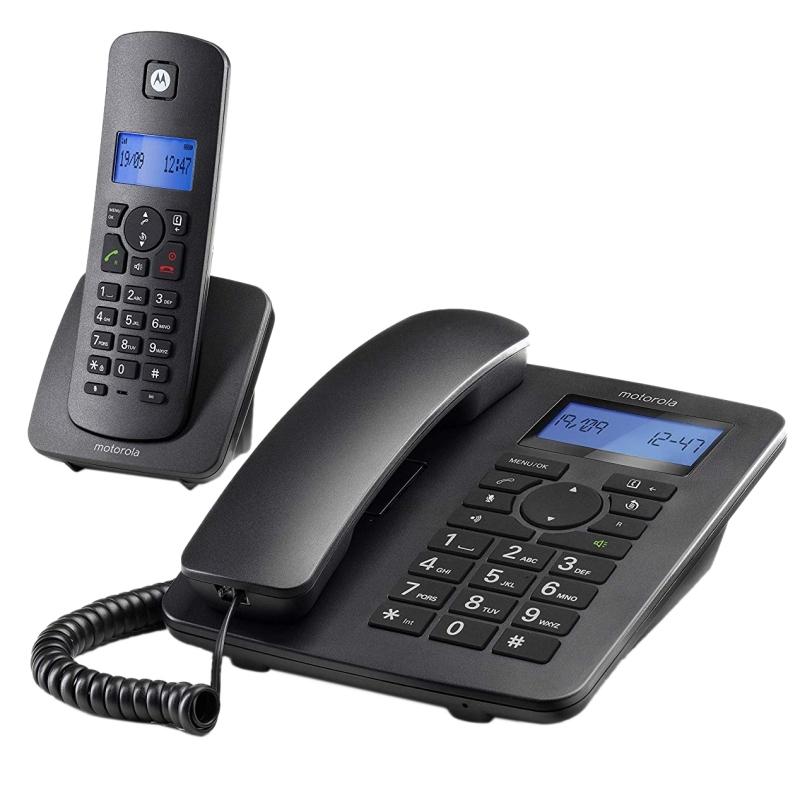MOTOROLA C4201 Telefono Combo Fijo + DECT Negro