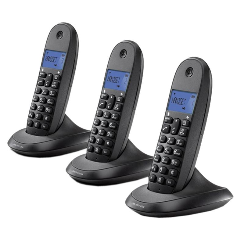 MOTOROLA C1003 LB+ Telefono DECT TRIO Negro