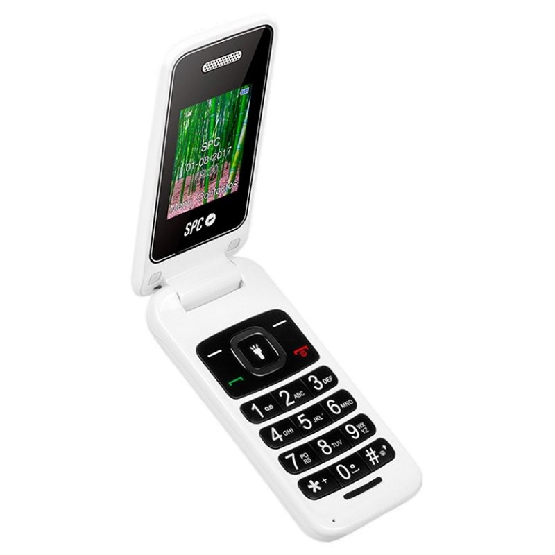 SPC 2306B Flip Telefono Movil BT FM Blanco