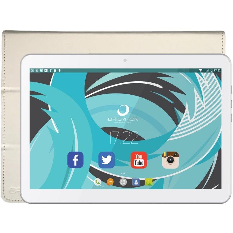 Brigmton KIT Tablet BTPC1021-Blanca+Funda BTAC-109
