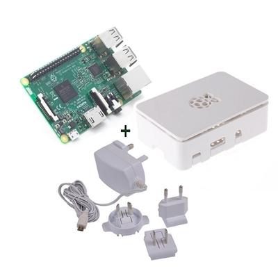 Raspberry kit Pi 3 + caja blanca + fuente 5.1V bla