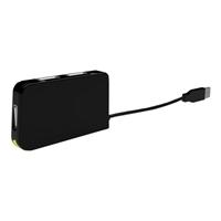 approx APPHT4BK Hub 4 Puertos USB 2.0 Negro