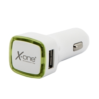 X-One cargador coche 2x USB 2.1A (laterales) Verde