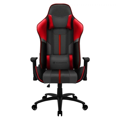 SILLA GAMER THUNDERX3 BC3 BOSS FIRE GREY RED - MARCO ACERO - RESPOSABRAZOS AJUSTABLES - MECANISMO DE MARIPOSA - PISTON CLASE 3 - HASTA 150K