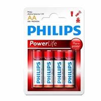 Philips Pila Alcalina LR6 AA Pack-4