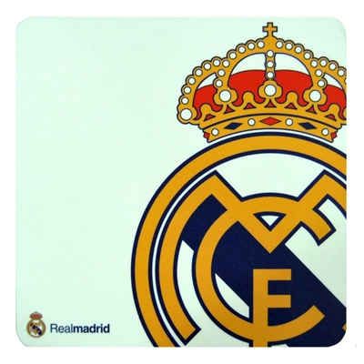 Real Madrid Alfombrilla Blanca Escudo