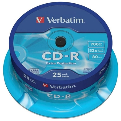 Verbatim CD-R Extra Protection - CD-R x 25 - 700 MB - soportes de almacenamiento