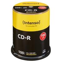 Intenso CD-R 700MB/80min tubo 100 unidades