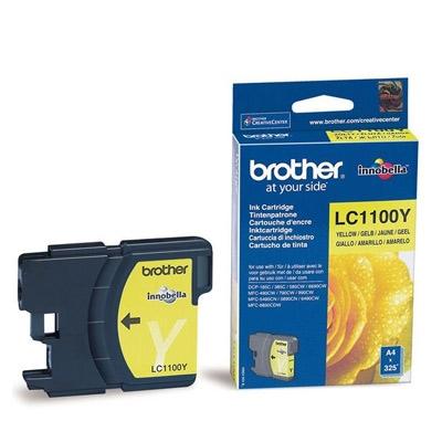 Brother LC1100Y - amarillo - original - cartucho de tinta