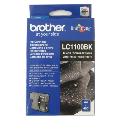 Brother LC1100BK - negro - original - cartucho de tinta