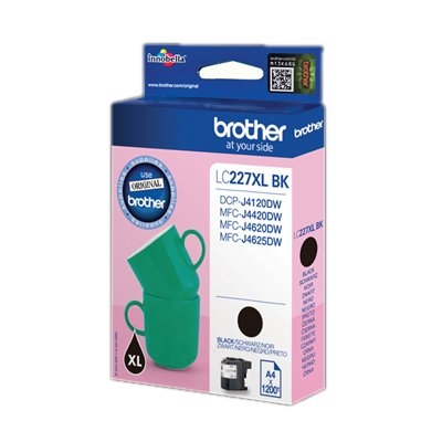 Brother LC-227XLBKBP - Alto rendimiento - negro - original - cartucho de tinta