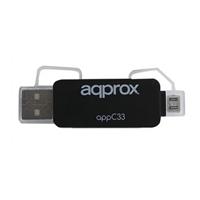 approx APPC33 Adaptador microSD/SD/MMC a USB/micro