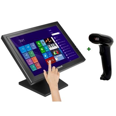 KIT iggual Monitor Táctil 17 Pulgadas   +  Lector 1D Imag USB
