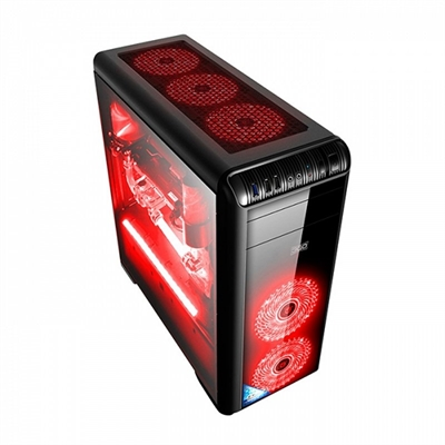 3GO Caja ATX HOLOGRAM GAMING USB3.0 LAT.METRACRIL.