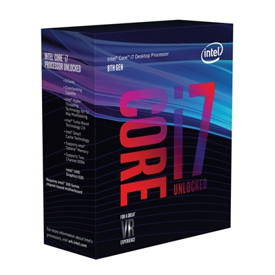 Intel Core i7 8700K / 3.7 GHz procesador