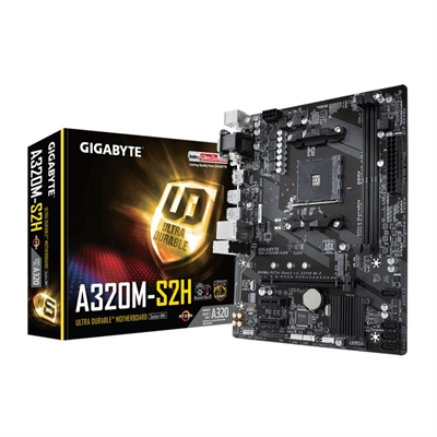 Gigabyte GA-A320M-S2H - 1.0 - placa base - micro ATX - Socket AM4 - AMD A320