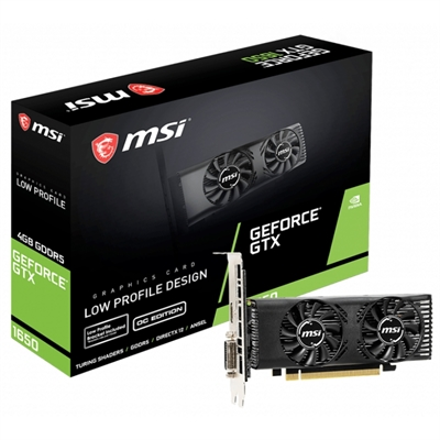 VGA  MSI GTX 1650 4GB OC Hdmi/Dvi-D Low Profile