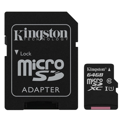 Kingston SDCS / 64GB micro SD XC clase 10 64GB