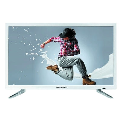 "Schneider RAINBOW TV 24"""" LED HD USB HDMI blanca"
