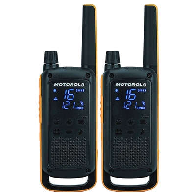 MOTOROLA Walkie-Talkies T82EX Pack 2/10km/16 channels/batería recargable B8P00811YDEMAG
