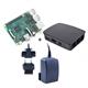 Raspberry kit Pi 3 + caja negra+ fuente 5.1V negra